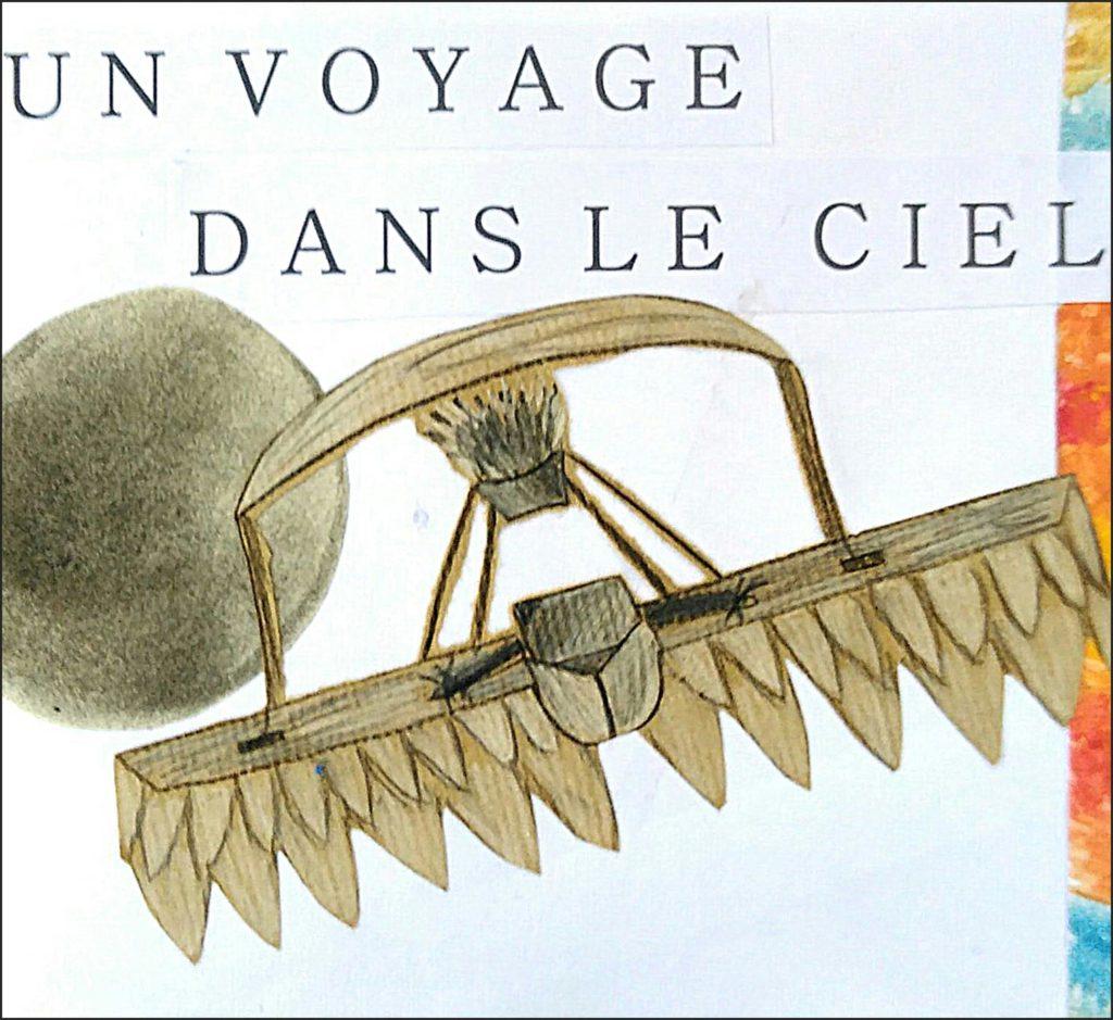 Carnet de voyage avec le cours de dessin, peinture, collage de l'atelier d'art esquisse de Rambouillet